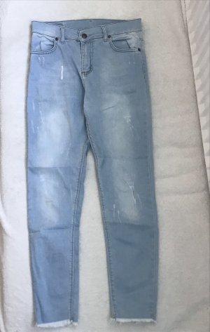 Workowate jeansy błękitny-chabrowy