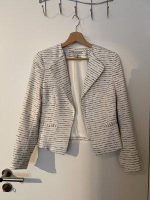 H&M Tweed Blazer white-dark blue