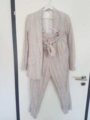 H&M Pantalon en lin multicolore
