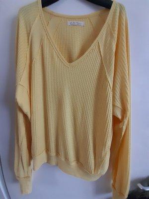 Free People Oversized Sweater primrose