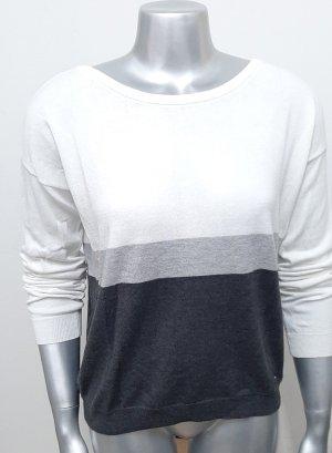 Lockerer Pullover AJC Gr. 32/34 gestreift grau weiß pulli