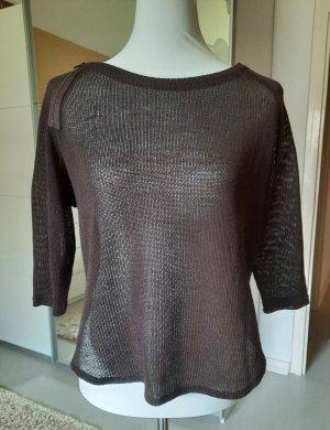 Vero Moda Siateczkowa koszulka ciemnobrązowy