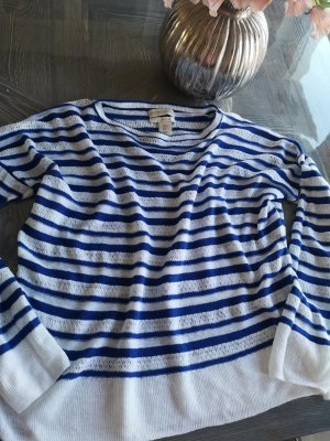Cynthia Rowley Crewneck Sweater white-steel blue