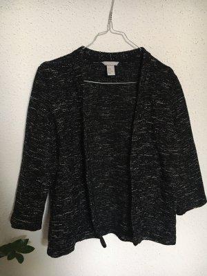 H&M Gebreide blazer zwart-wolwit