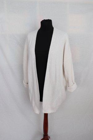 Lockerer weißer Cardigan Strickjacke von Review Größe S 36 38