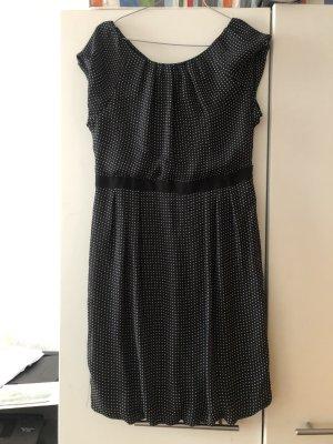 lockeres Ballonkleid schwarz weiße von Zara
