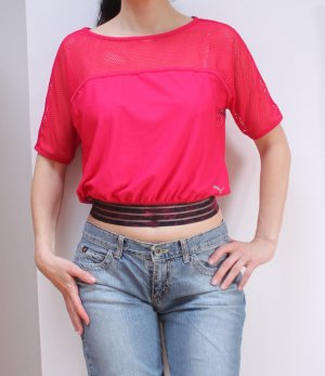 Lockeres Crop Top  von Puma in pink