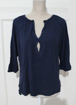 Esprit Top à manches longues bleu-bleu foncé coton