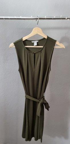 lockeres Kleid Sommerkleid Herbstkleid Freizeitkleid Partykleid khaki grün