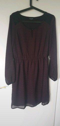 Gina Benotti Szyfonowa sukienka czarny-czerwona jeżyna