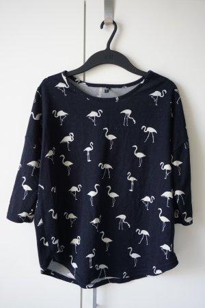 Colloseum Suéter azul oscuro-blanco