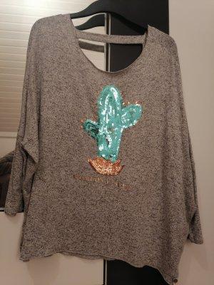 Cotton Candy Maglione oversize grigio chiaro