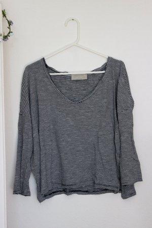 Lockeres schwarz weiß gestreiftes Shirt Zara 36 S oversize