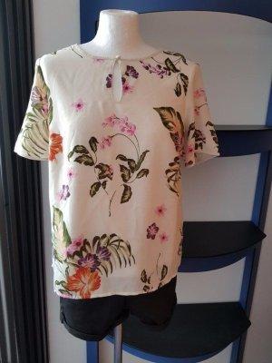 Lockeres Shirt mit Print Druck, gr. M, Vero Moda Bluse kurzarm