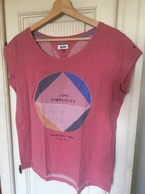 Lockeres Shirt mit Print in Größe s