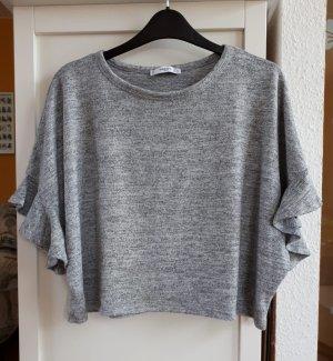 Mango Camicia oversize argento-bianco sporco