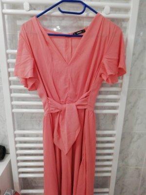 Shine V-Neck Shirt salmon-pink