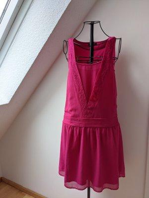 Vila Robe d'été rose-magenta polyester