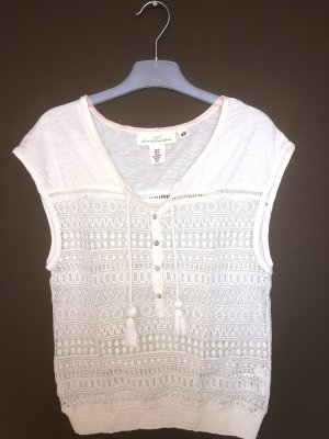 H&M L.O.G.G. Mesh Shirt natural white