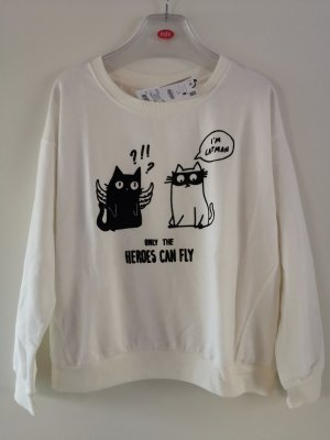 BSK by Bershka Sweat Shirt black-natural white