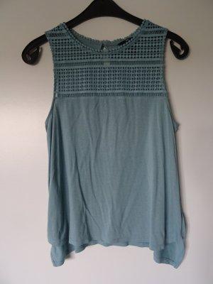 H&M Basic topje leigrijs-lichtblauw