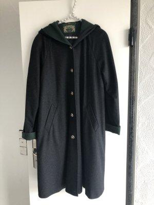 Lodenfrey Cappotto in lana antracite-verde scuro