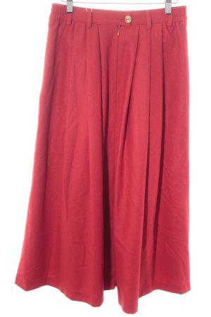 Lodenfrey Gonna a pieghe rosso stile da moda di strada