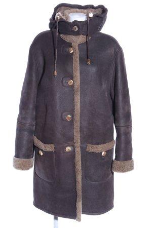 Lodenfrey Manteau à capuche brun-rose chair style décontracté