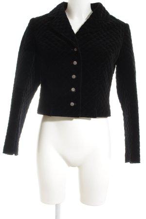 Lodenfrey Short Blazer black quilting pattern elegant