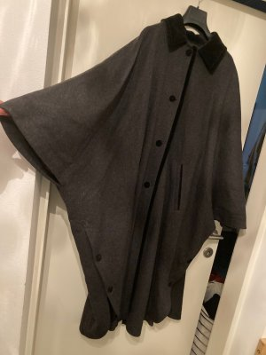 Lodenfrey Mantel Cape grau und schwarz