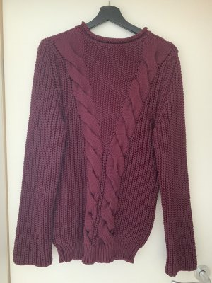 Lodenfrey Pullover a maglia grossa bordeaux