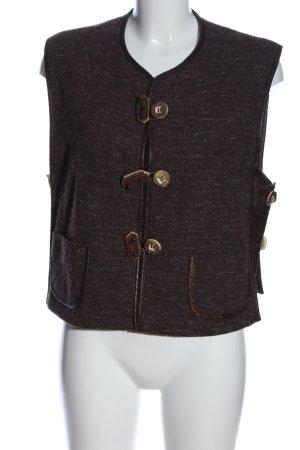 Lodenfrey Smanicato lavorato a maglia marrone puntinato stile casual