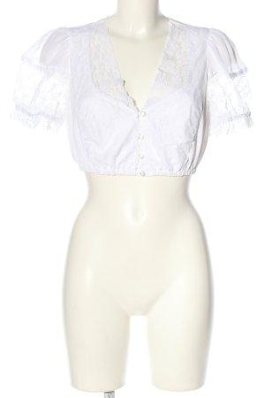 Lodenfrey Blusa folclórica blanco look casual