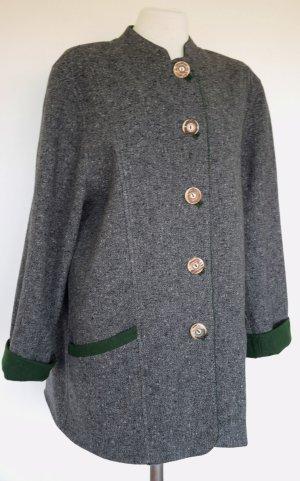 Tradycyjna kurtka ciemnoszary-zielony Wełna
