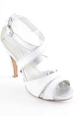 Lodi Sandalo con tacco alto e lacci a T bianco elegante
