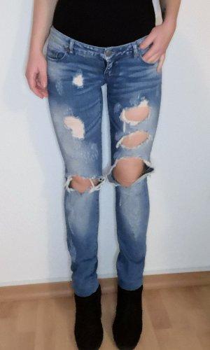 Only Jeansy z prostymi nogawkami Wielokolorowy