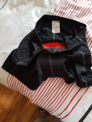 Pantalone da ginnastica nero-rosso Lycra