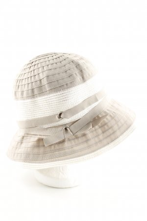 Loevenich Bucket Hat nude-white striped pattern casual look