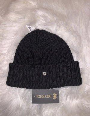 Loevenich Chapeau en tricot noir