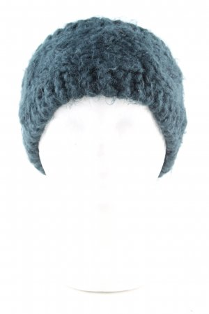 Loevenich Ohrenwärmer blau Zopfmuster Casual-Look
