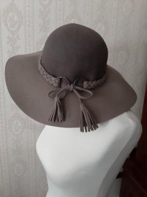 Loevenich Cappello a falde larghe marrone-grigio Lana