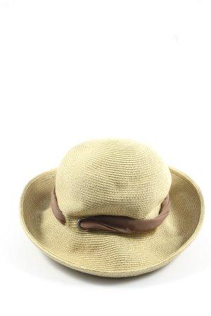 """Loevenich Straw Hat """"W-rnfwfy"""" natural white"""