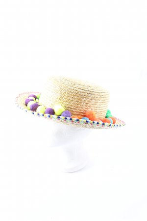 Loevenich Straw Hat multicolored bobble elements