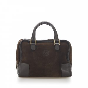 Loewe Amazona 28 Suede Handbag