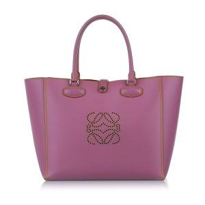 Loewe Tote pink leather