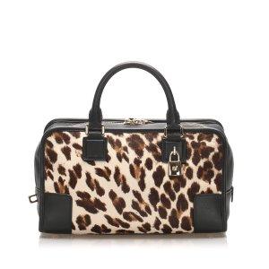 Loewe Amazona Leopard Print Pony Hair Handbag