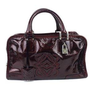 Loewe Amazona Patent Leather Handbag