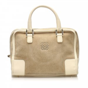 Loewe Amazona Suede Handbag