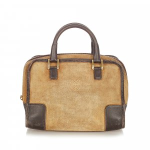 Loewe Handbag beige suede