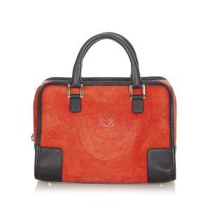 Loewe Handbag red suede